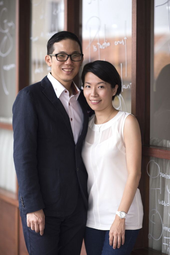 Kid Chan and his wife Shirlyn