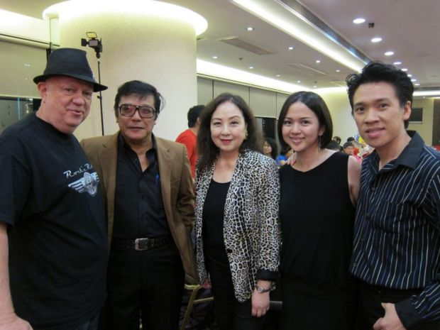 From left to right: Anders Nelson, HT Long, Angeline Lo Yuen Yan (TVB), Natalie Chow (Alex Wong's wife), Alex Wong