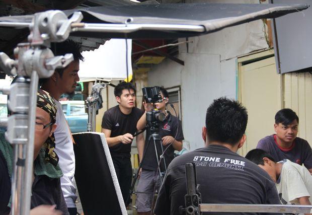Paul Gan shooting a film