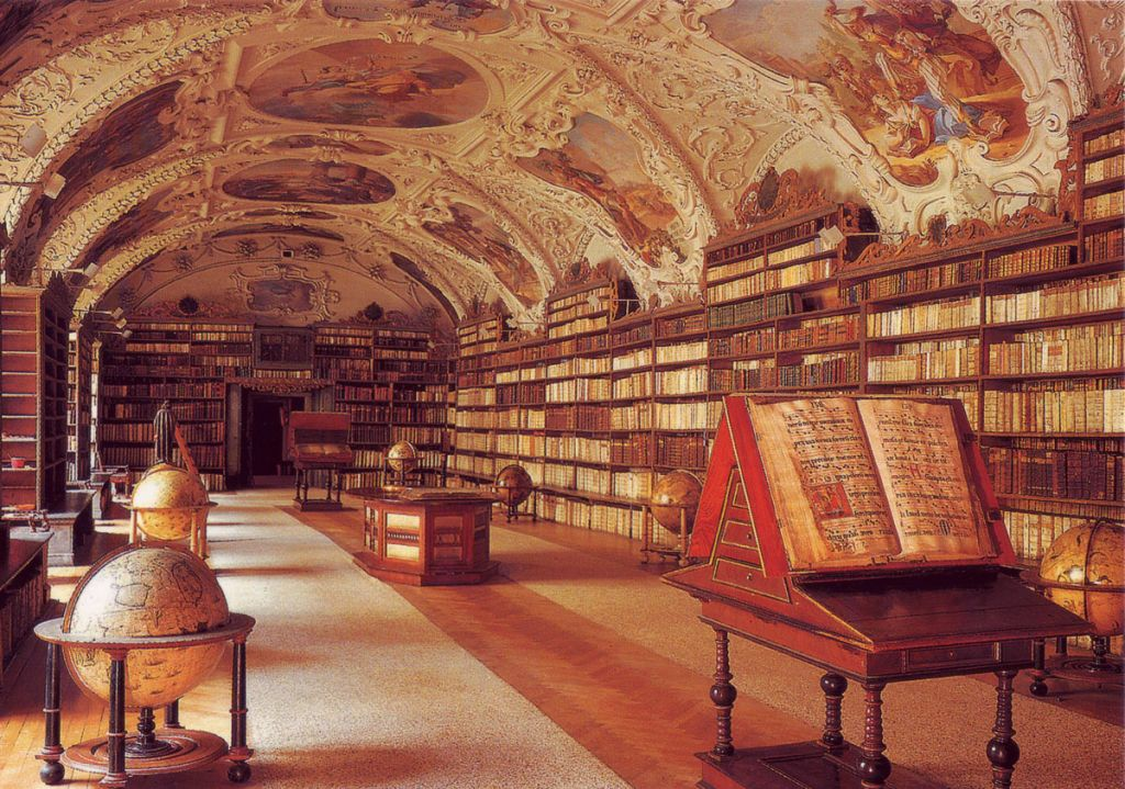 Ref: blogomata | https://blogomata.files.wordpress.com/2010/01/theology-room-strahov-prague.jpg