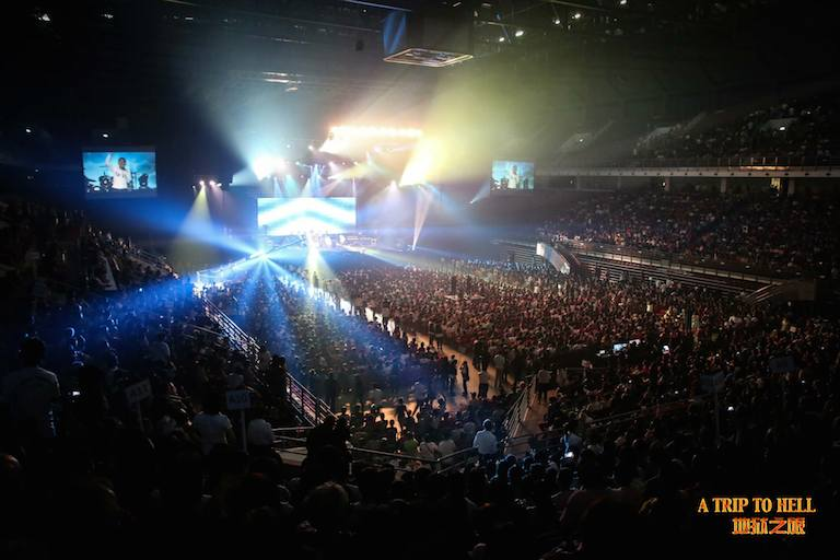 The overflowing Putra Stadium Bukit Jalil with 13,337 people gathering to hear the Word from God
