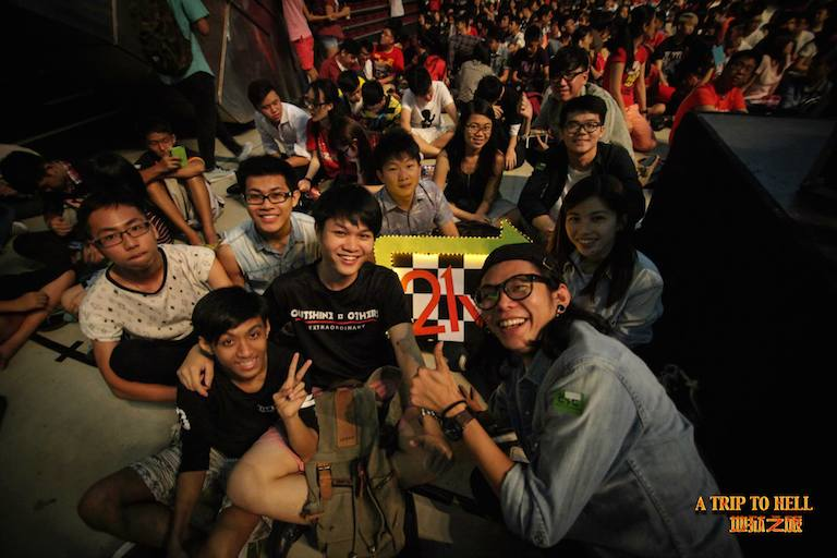 The young people who came to listen to Philip Mantofa's Trip to Hell