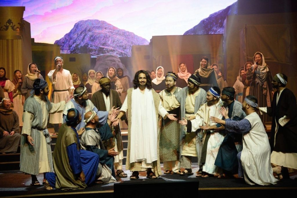 The ending scene where Jesus was resurrected, to the amazement of His disciples and the villagers. Jesus Christ is alive!