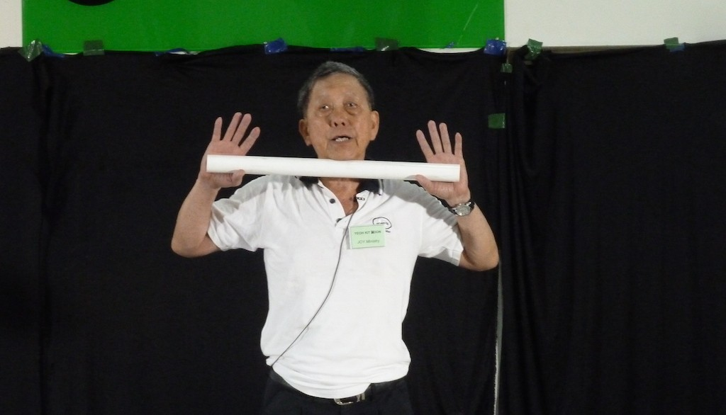 Yeoh Kit Koon, founder and teacher of the Sit Down Exercise