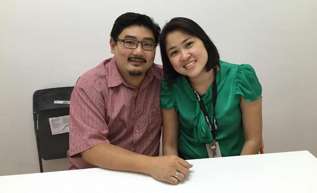 Damien Chua (Left) and Lai Mei Ying