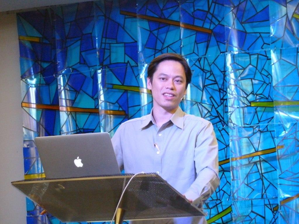 Pr Steve preaching in NLCC, Subang Jaya