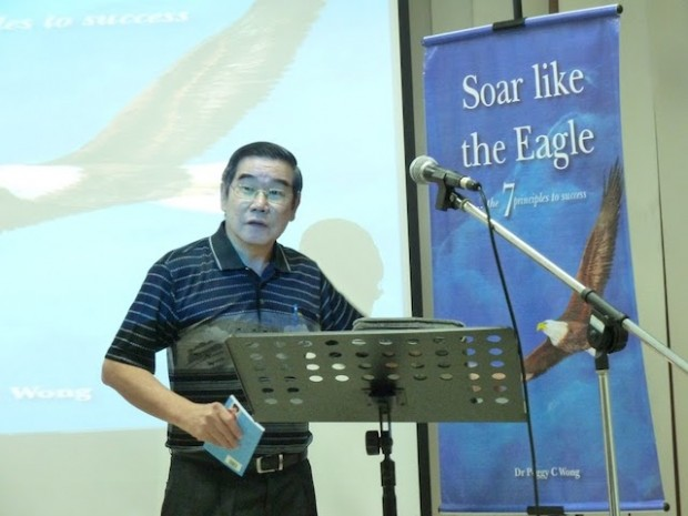 Pr Dr Chew Weng Chee explaining how the Bible talks a lot about the eagle