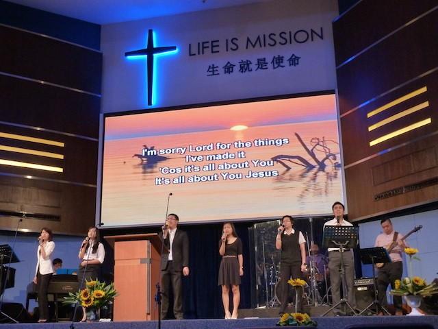 The worship team of KLBC