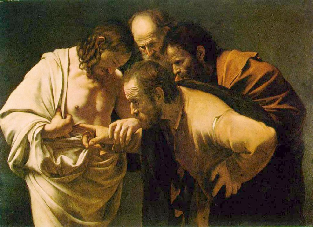 Ref: credomag | http://www.credomag.com/wp-content/uploads/2012/04/caravaggio-thomas.jpg