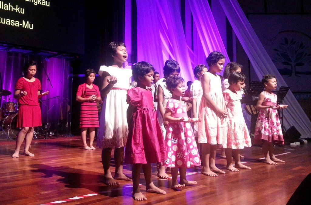 The lovely children of the land from ACE Lighthouse, Bentong singing and worshipping God