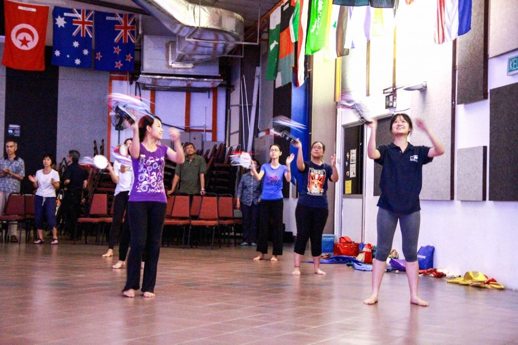 Worshipping God with dance and tambourines  Photo Credit: Naama Foong