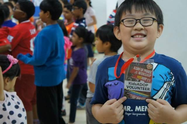 Happy child in the KidsADOP 2015