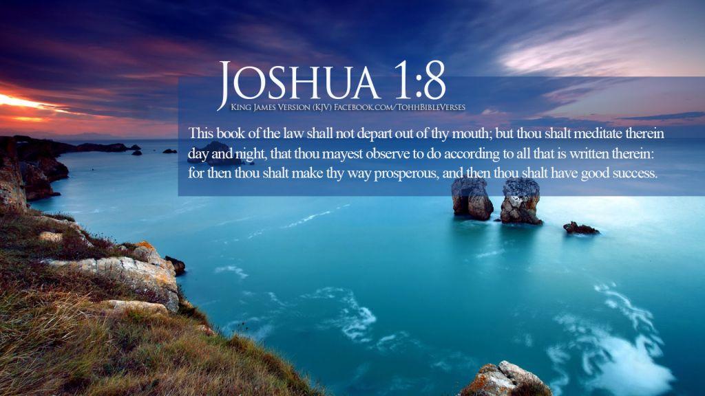 Bible-Verses-On-Blessings-Joshu-1-8-Beautiful-Ocean-HD-Wallpaper