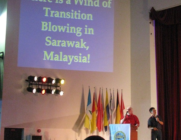 Dr Chuck Pierce decreeing for the Island of Borneo