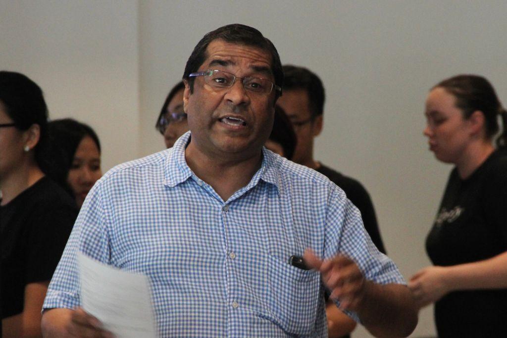Ps. Elisha Satvinder giving his address at Project B