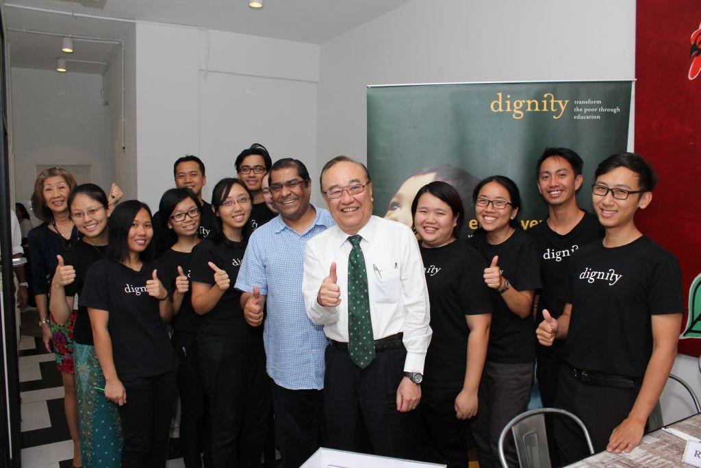 Senator Datuk Paul Low with Ps. Elisha and some of his Dignity team