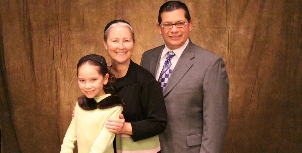 Rev Eli Hernandez (right) and his family