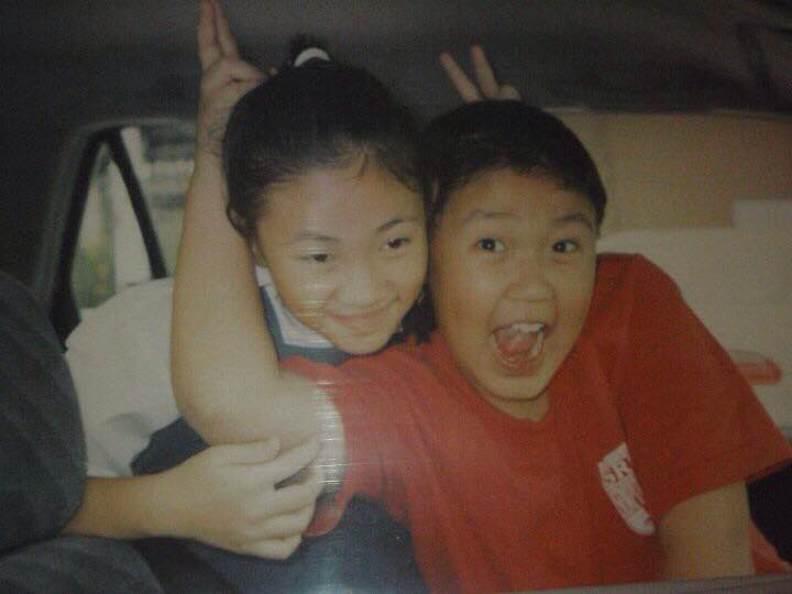 Aaron and his sister when they were in primary school