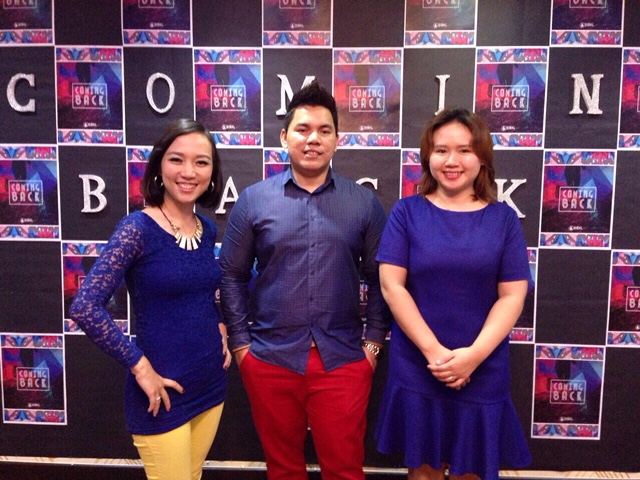 From left to right: Tunung Robin, Jhawn Lawai, Cilivella Jamious (worship leader)