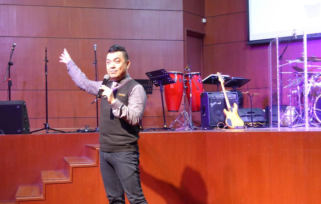 Pastor Edmund Smith at Good Shepherd Assembly of God, Petaling Jaya.
