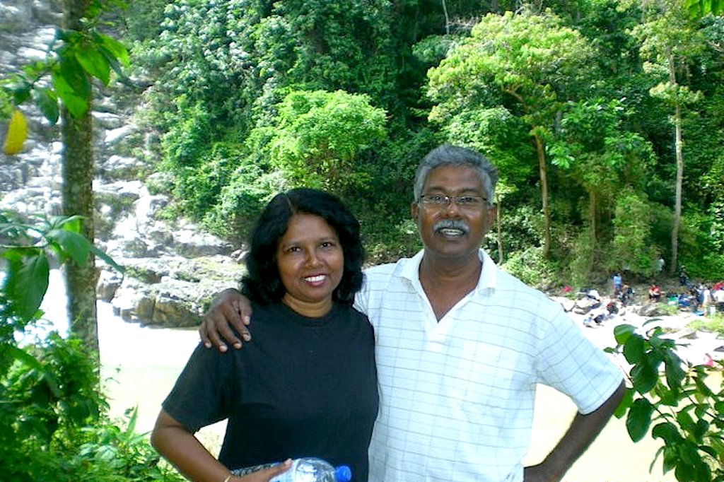 Pastor Solomon and his wife Gnanam