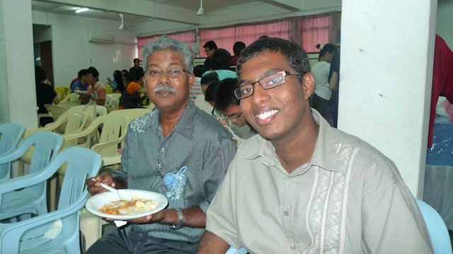Pastor Moses and his grown-up son Selvyn