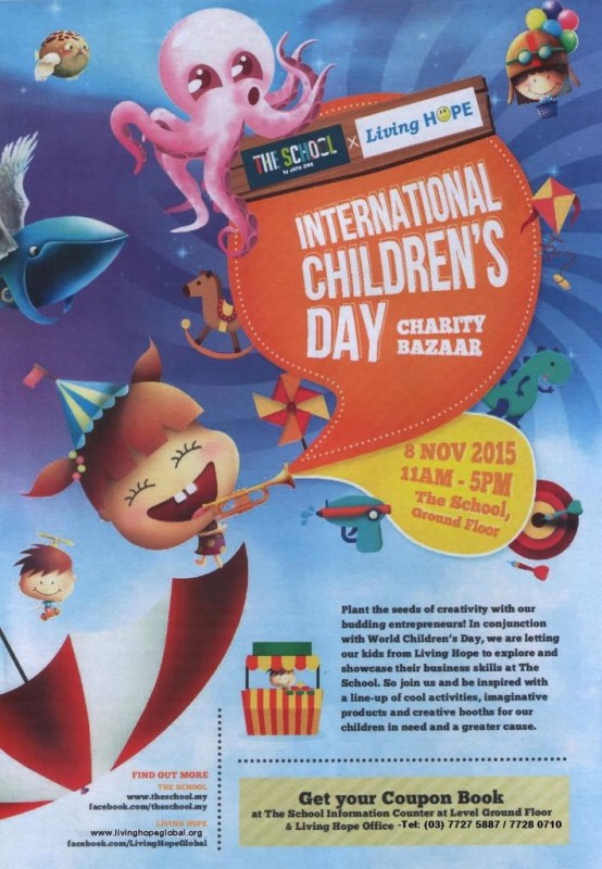 Flyer - International Childrens Day Charity Bazaar