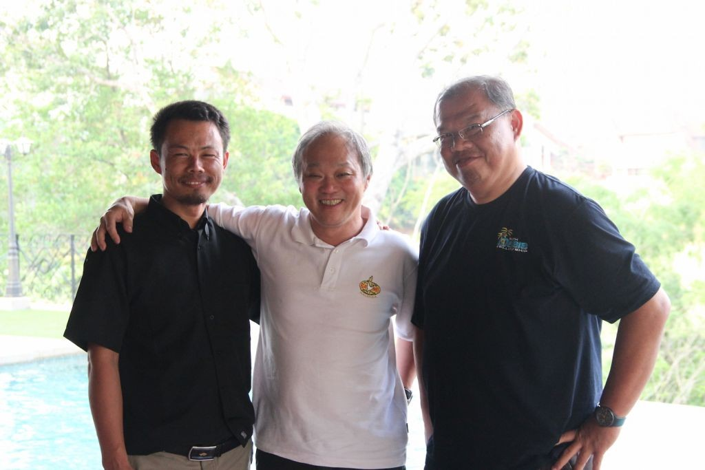 Ps. Robin (far left) with some friends in Malaysia