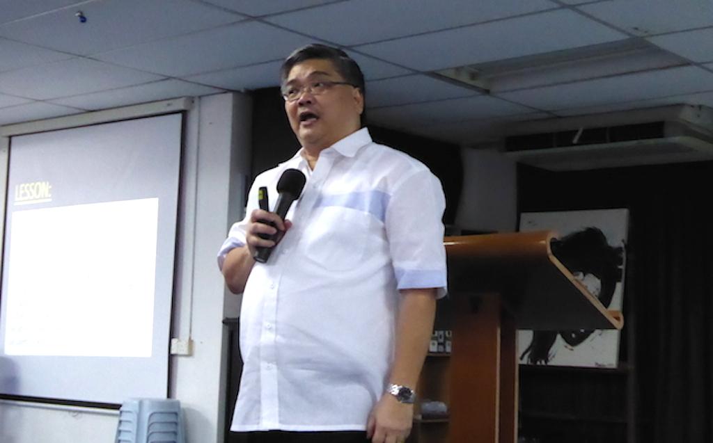 Pastor Alan Tan preaching at First Assembly of God, Kota Bahru