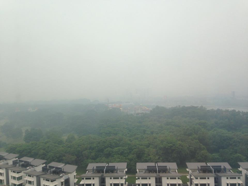The view from my living room on a hazy day