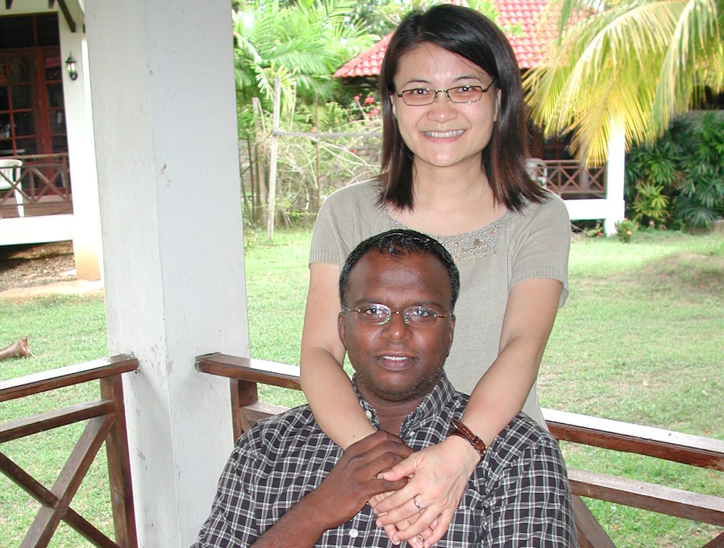 Pastor Ezekiel (front) with his wife Aurora