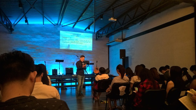 Pastor Keith Tay citing the Bible scriptures