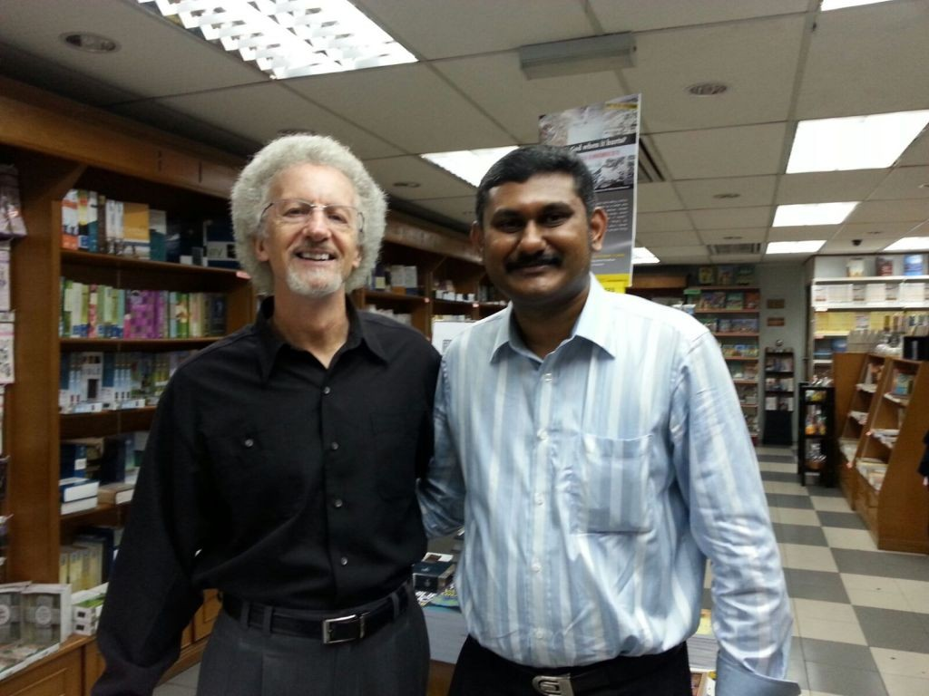 Dr. Philip Yancey and Bro. Lawrence James @ PVM Harvest Resources Bookstore in Klang