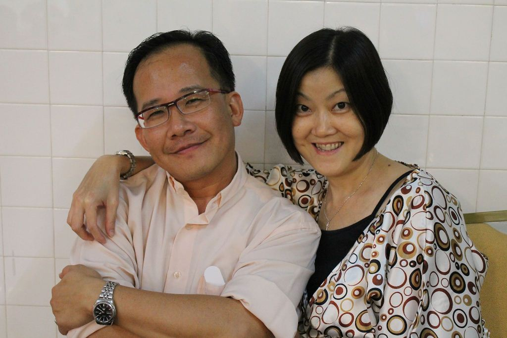 Stephen Chan (left) with his lovely wife, Ming Ngeo