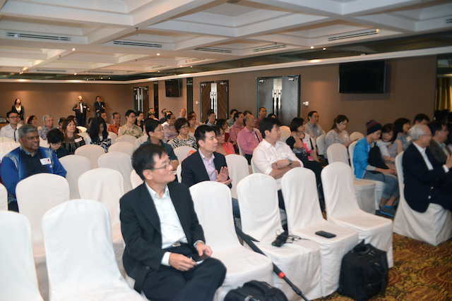 The attendees of the book launch held by John Ng