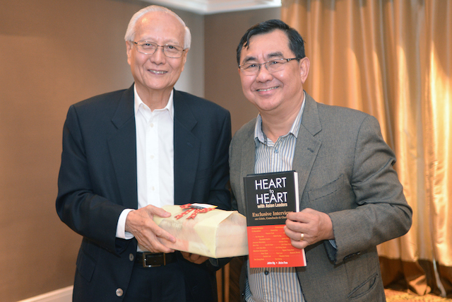 Dato' Roland Wong (left) with Dr John Ng