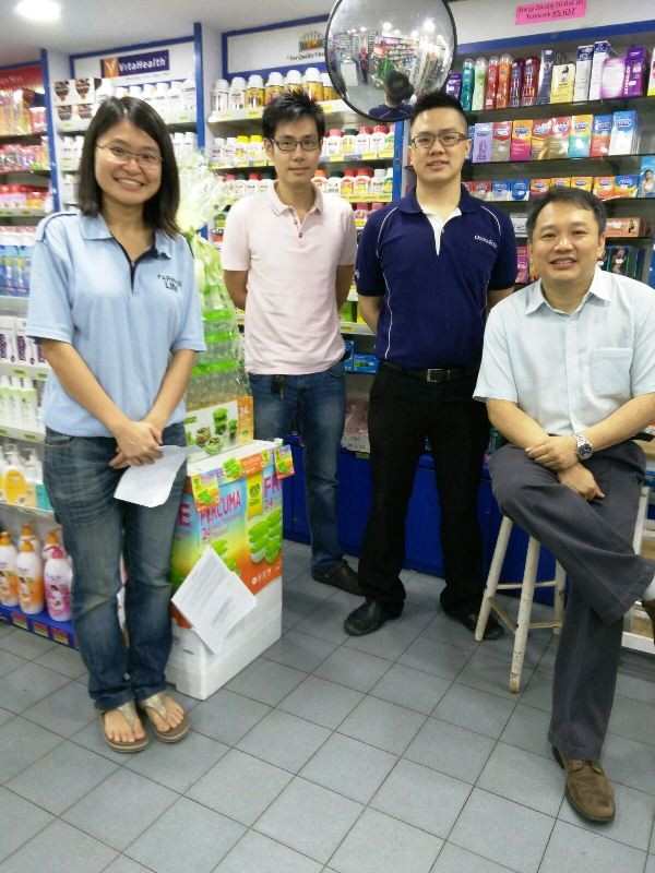 From left to right: Lee Hui Yi, Dr Su Peen, Jerome Ng Tee Wei, Elder Jacob Yeng