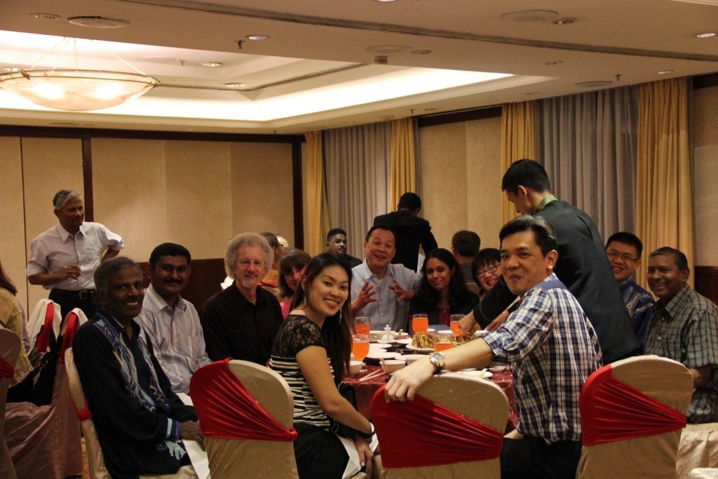 Dinner with church leaders