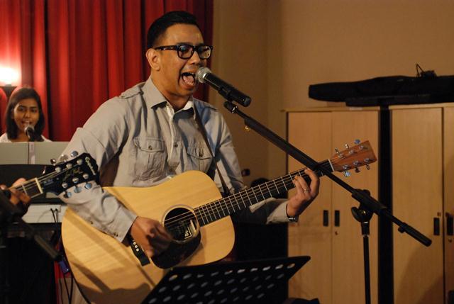 Pastor Ramesh Kumar, guitarist and vocalist of The Movement