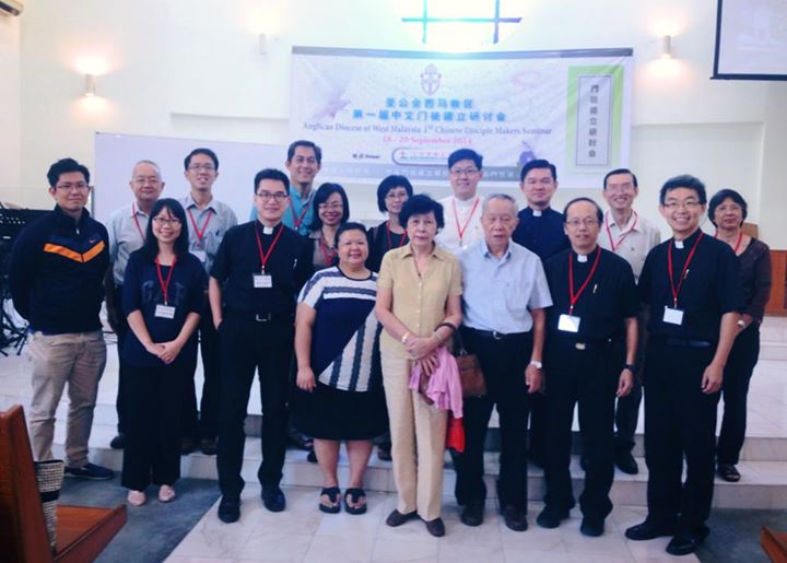 Pastor Simon in a Chinese Disciple Makers Seminar at Our Saviour's Church in Kuala Lumpur