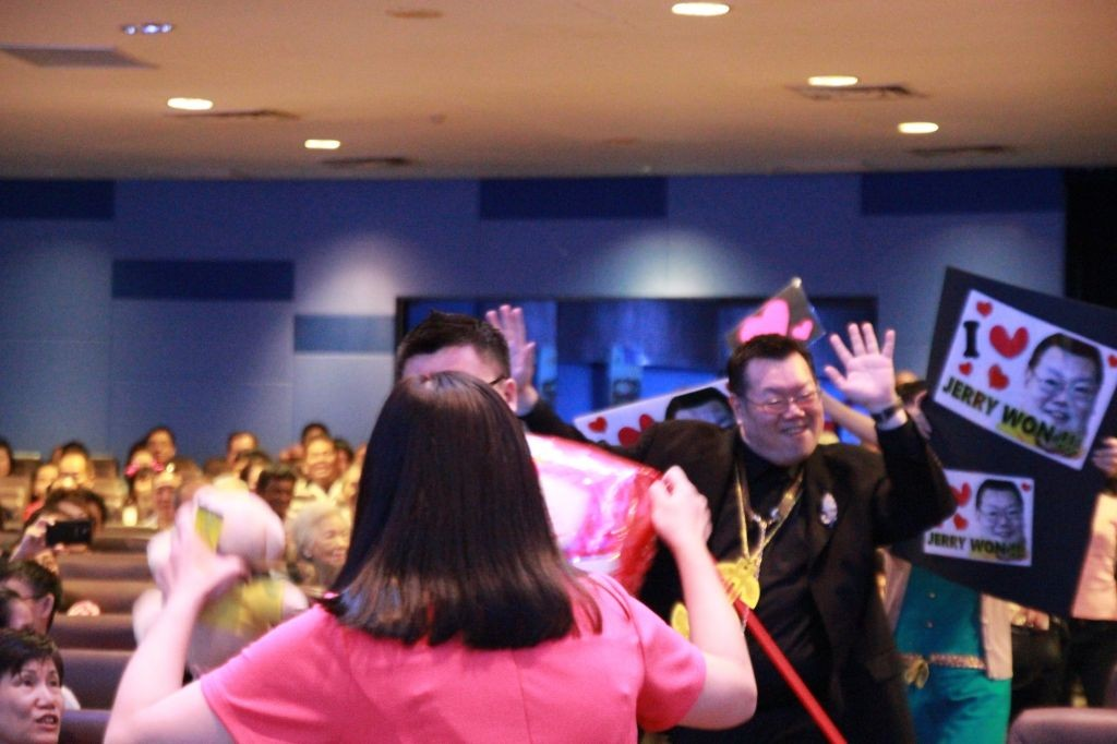 Jerry Won being showered by affection from his fans Photo Credit: KLBC