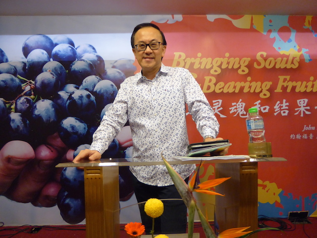 Rev Lawrence Yap, Senior Pastor of Charis Christian Centre