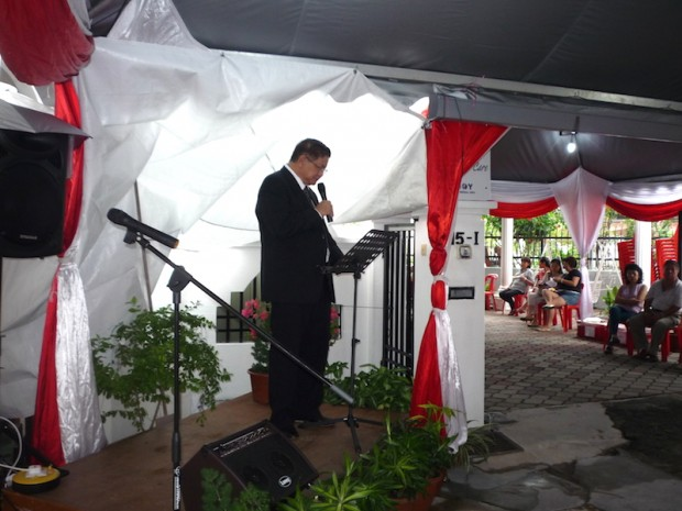 """Datuk Wira Wong's speech, """"AgapeCARE is a body that does good work for the community and should be supported…for those who believe in true and sincere charity, there is no barrier or boundary (whether race, colour or creed) in such charity."""""""