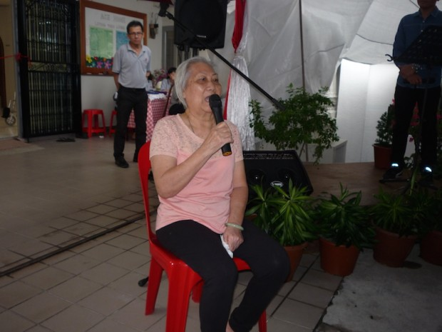 """Resident Hong Ah Loy (nearly 80) said, """"I couldn't walk for two years and I was well-taken care of. I was partly sponsored by a donor Irene Chua. Do continue to support AgapeCARE."""""""