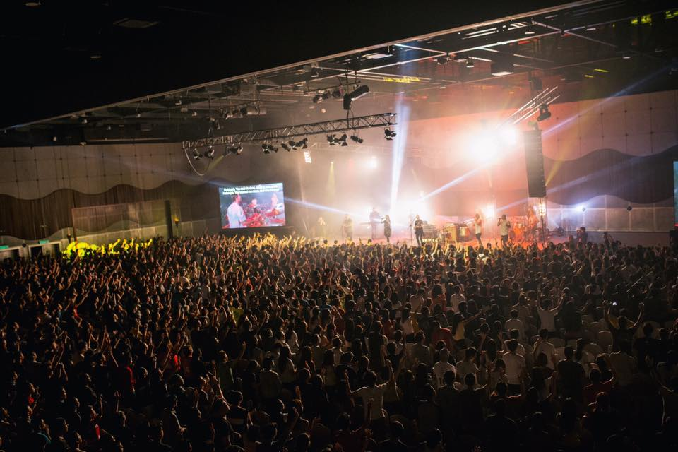 The crowd of worshippers who came to the Planetshakers Awakening Conference 2016 in Malaysia
