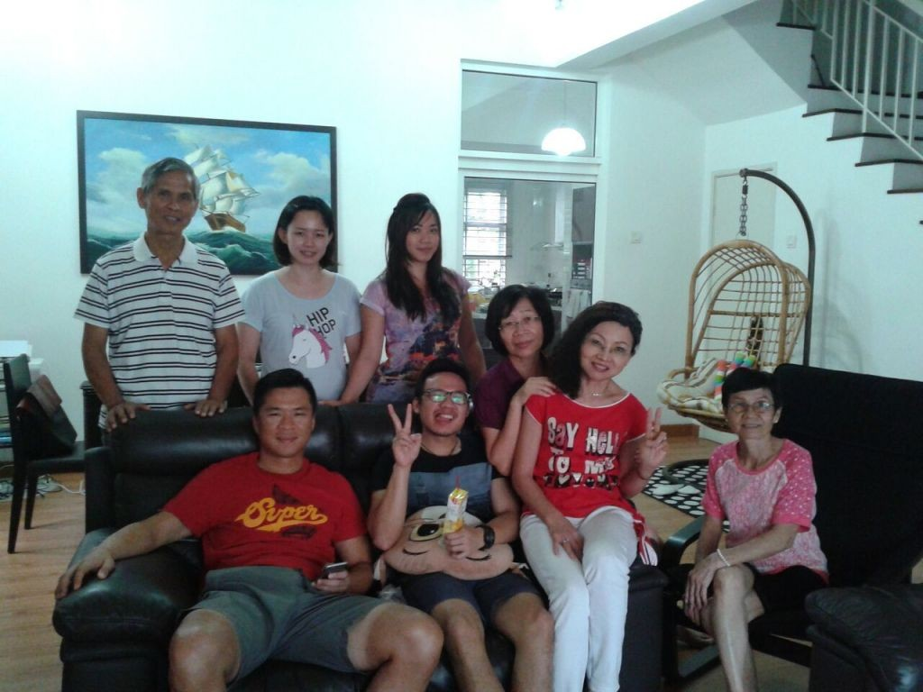 Anita-Gimfil (second from right) with her family in Kuala Lumpur