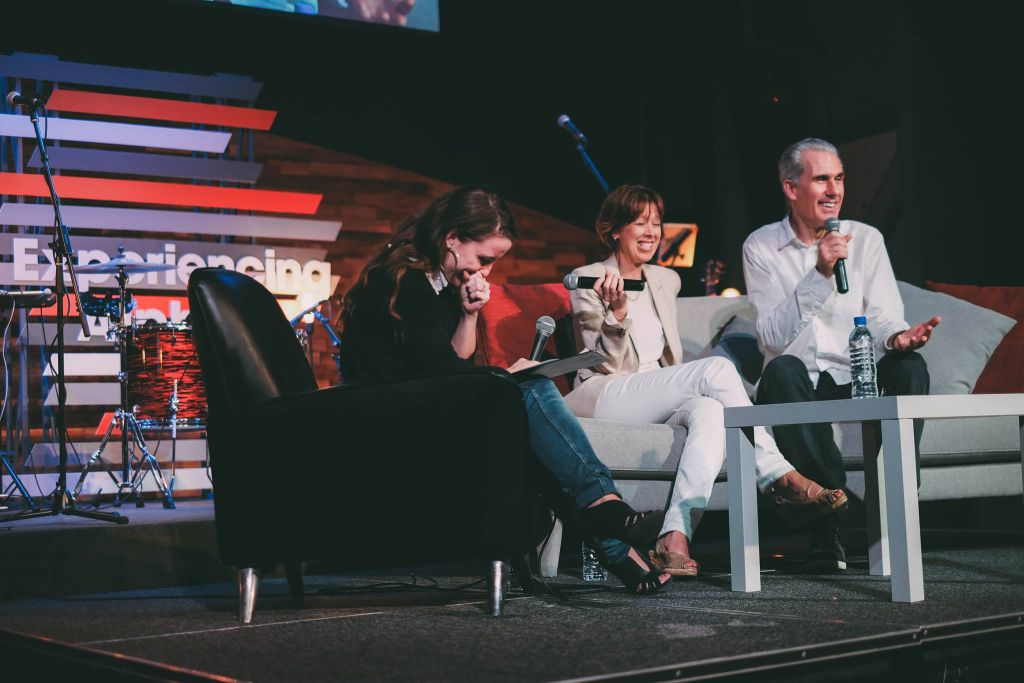 Q&A session with Nicky Gumbel and Pippa by Katie Millest