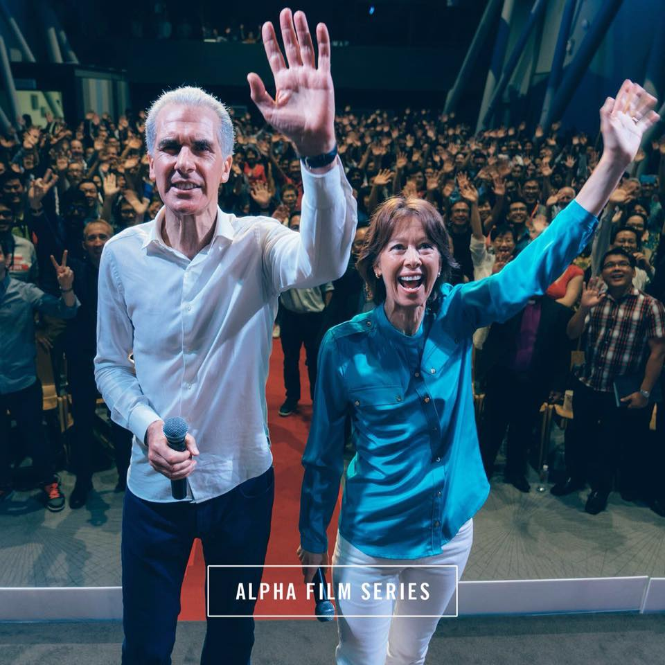 Nicky and Pippa Gumbel at the Alpha Film Series launch