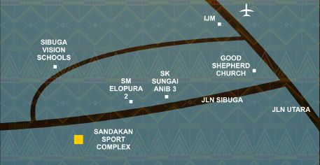 Map for Sandakan Sport Complex
