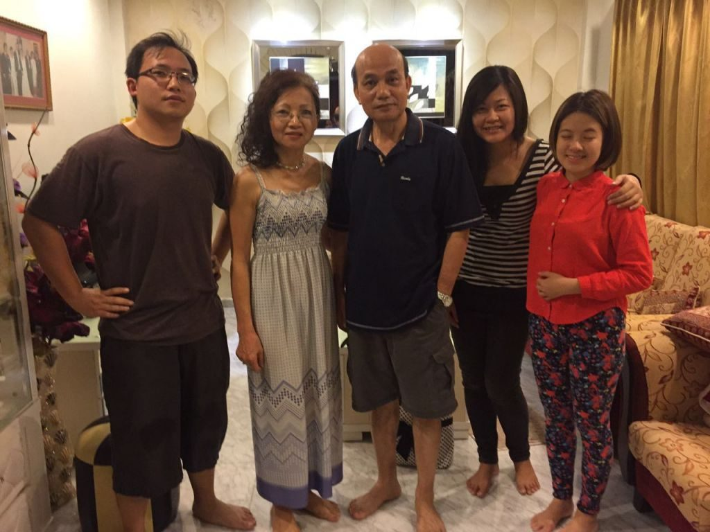 Anita (2nd from left) with her family and friends